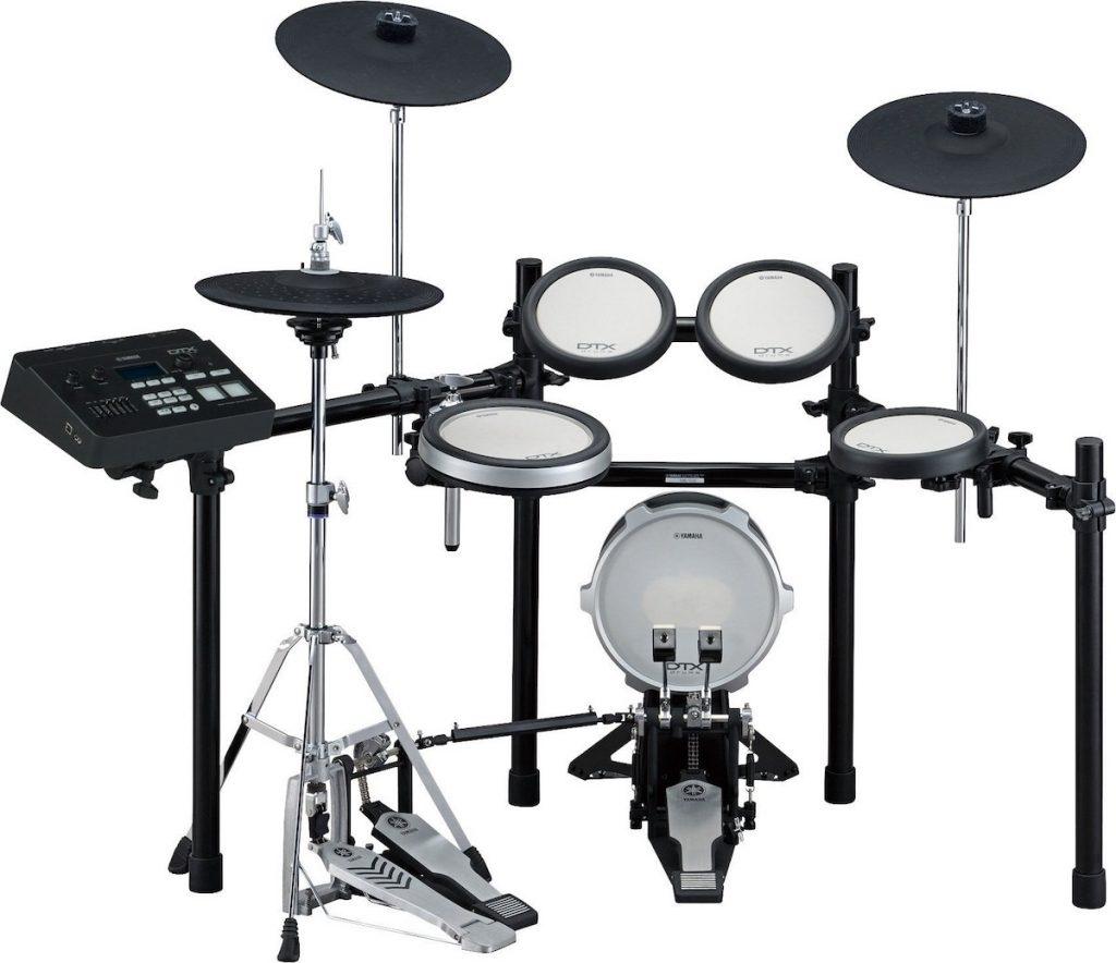 The Yamaha DTX720K electronic drum kit.