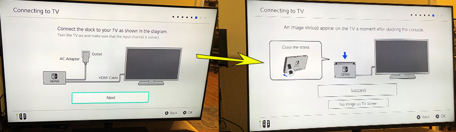 Nintendo Switch TV connection instructions, post-connection.