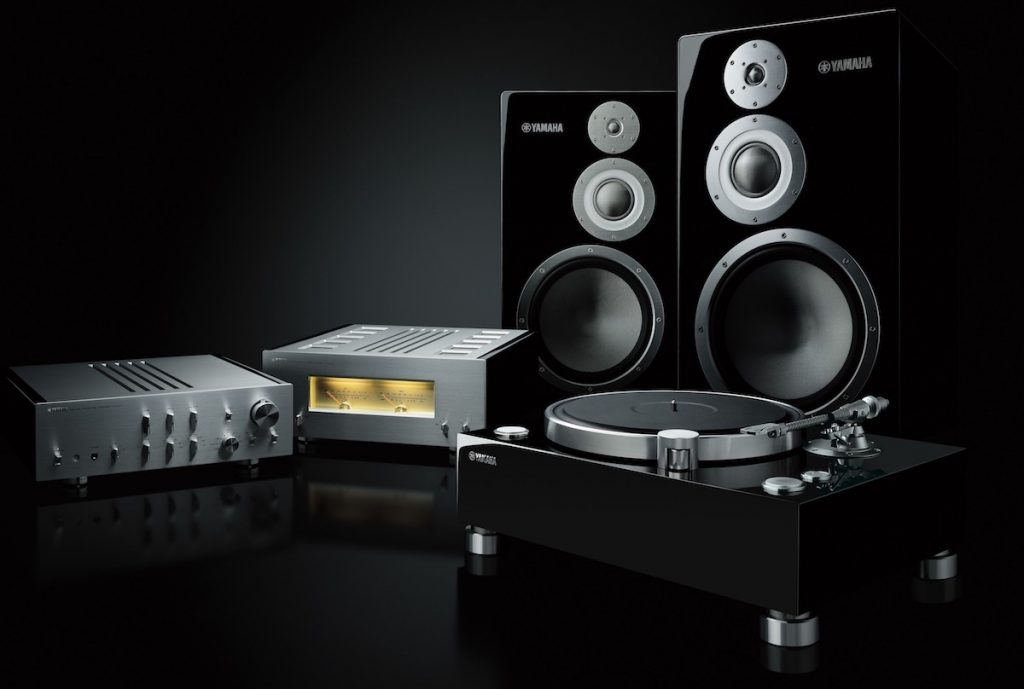 The Yamaha Flagship Hi-Fi 5000 Series including turntable, preamplifier, power amplifier and speaker.