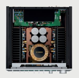 A look inside the Yamaha A-S3200 integrated amplifier.
