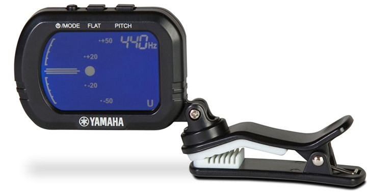 Yamaha GCT1 clip-on tuner.