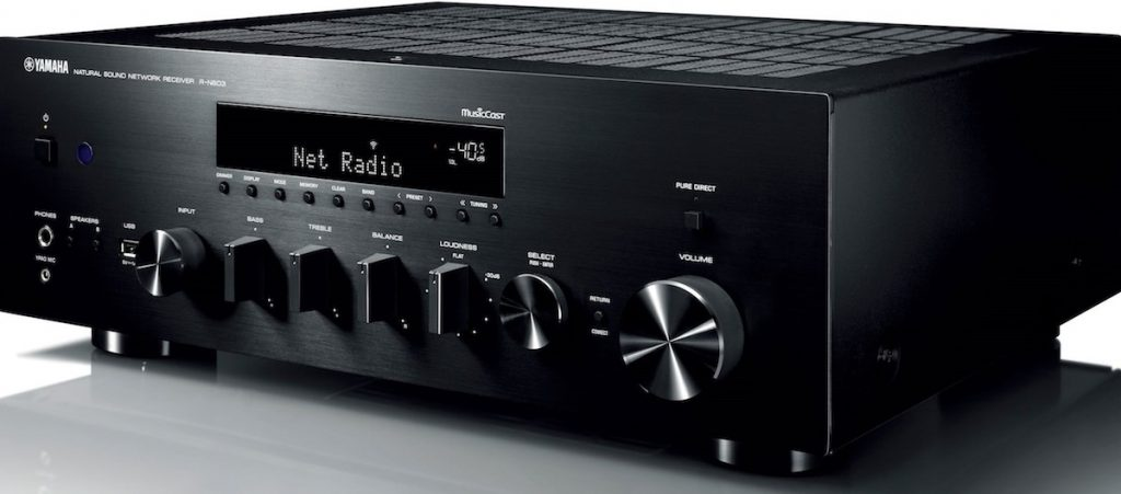 CAPTION: Yamaha R-N803 stereo receiver.