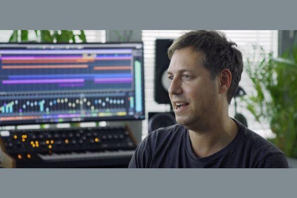 Jake Gosling in the studio.