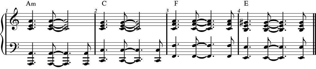 Rhythm example.