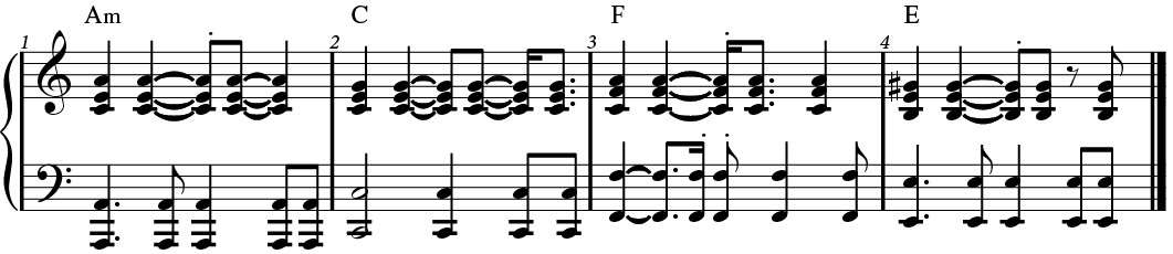 Busy rhythm example.