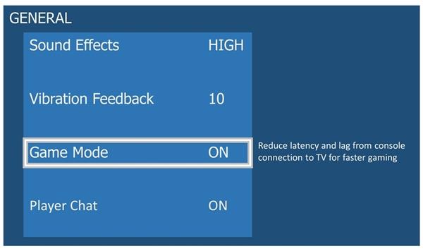 TV settings menu showing ALLM.