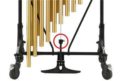 Damper rod attachment system.
