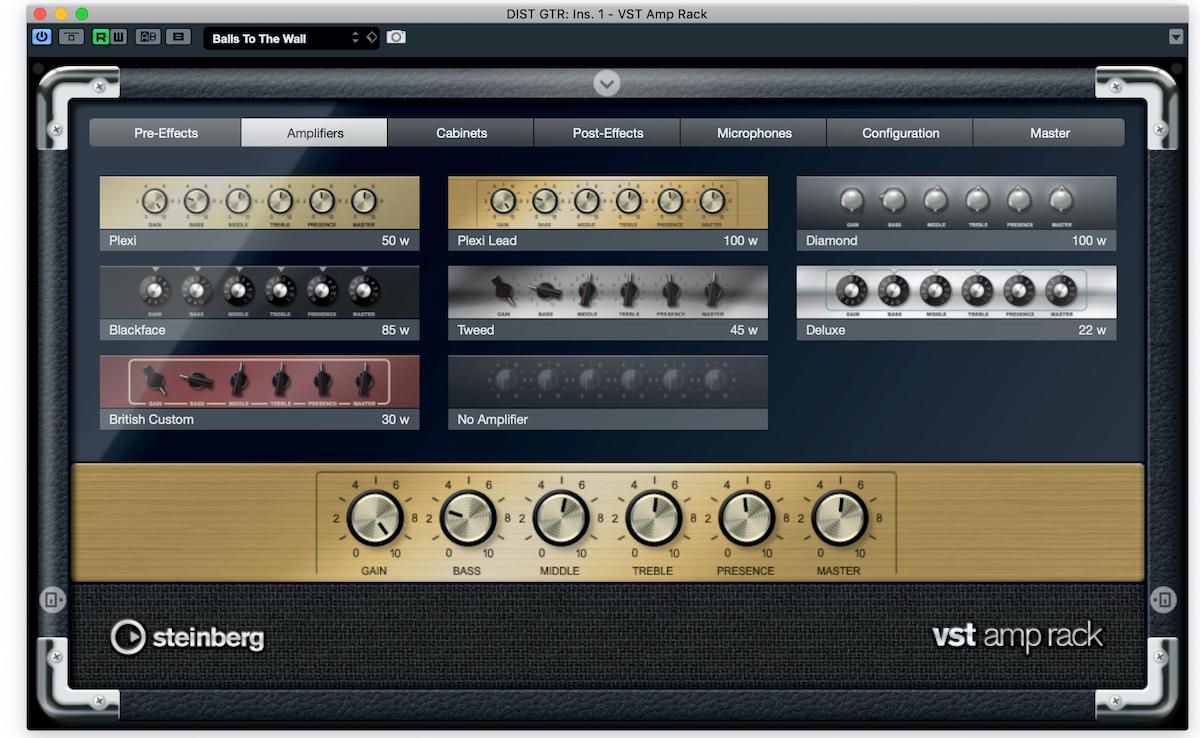 Steinberg VST Amp Rack.