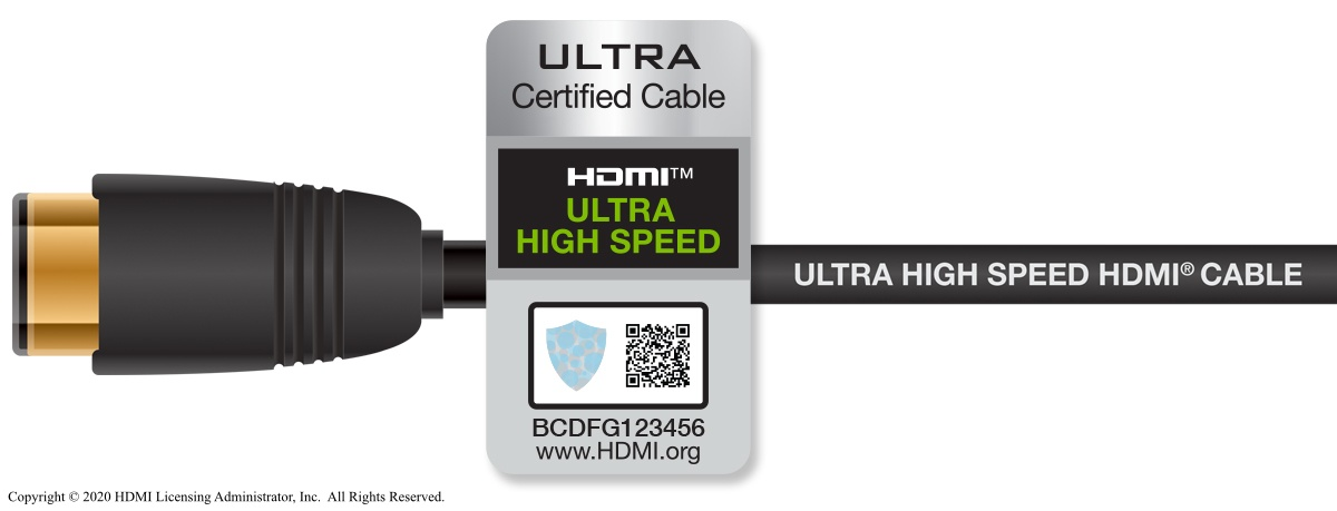 HDMI 2.1 cable.