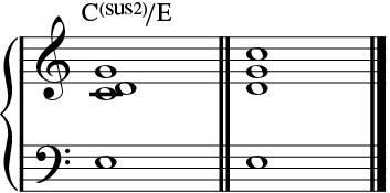 Sus2 over 3rd chord.