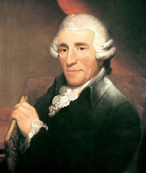 Painted portrait of Joseph Haydn.