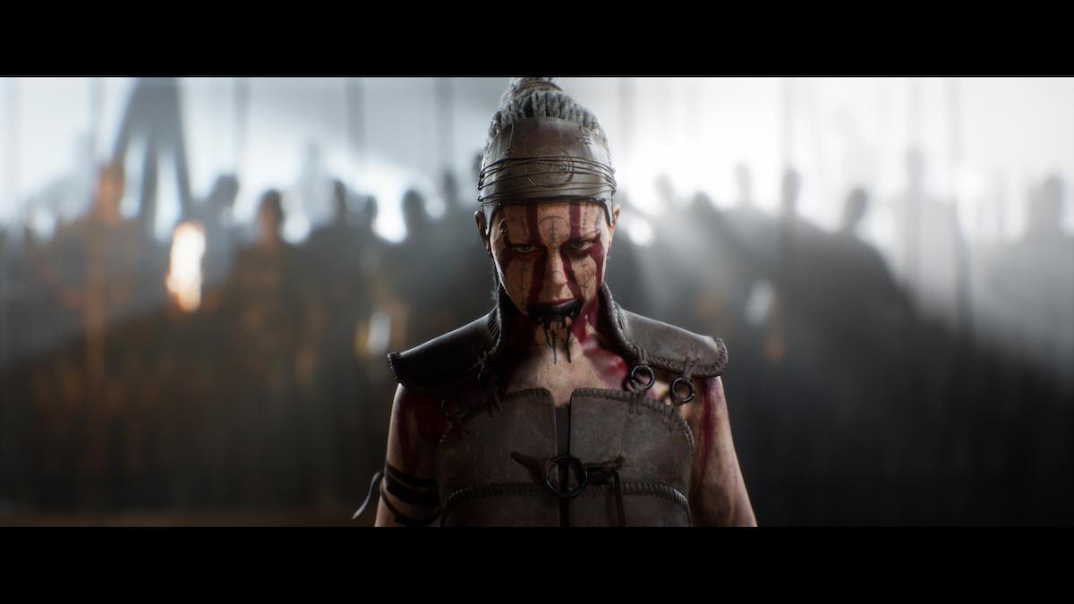 "A screenshot from the Xbox Series X title""Senua's Saga: Hellblade II."""