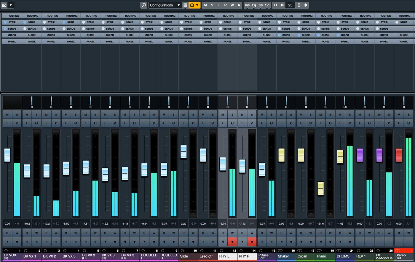 Screenshot of control panel.