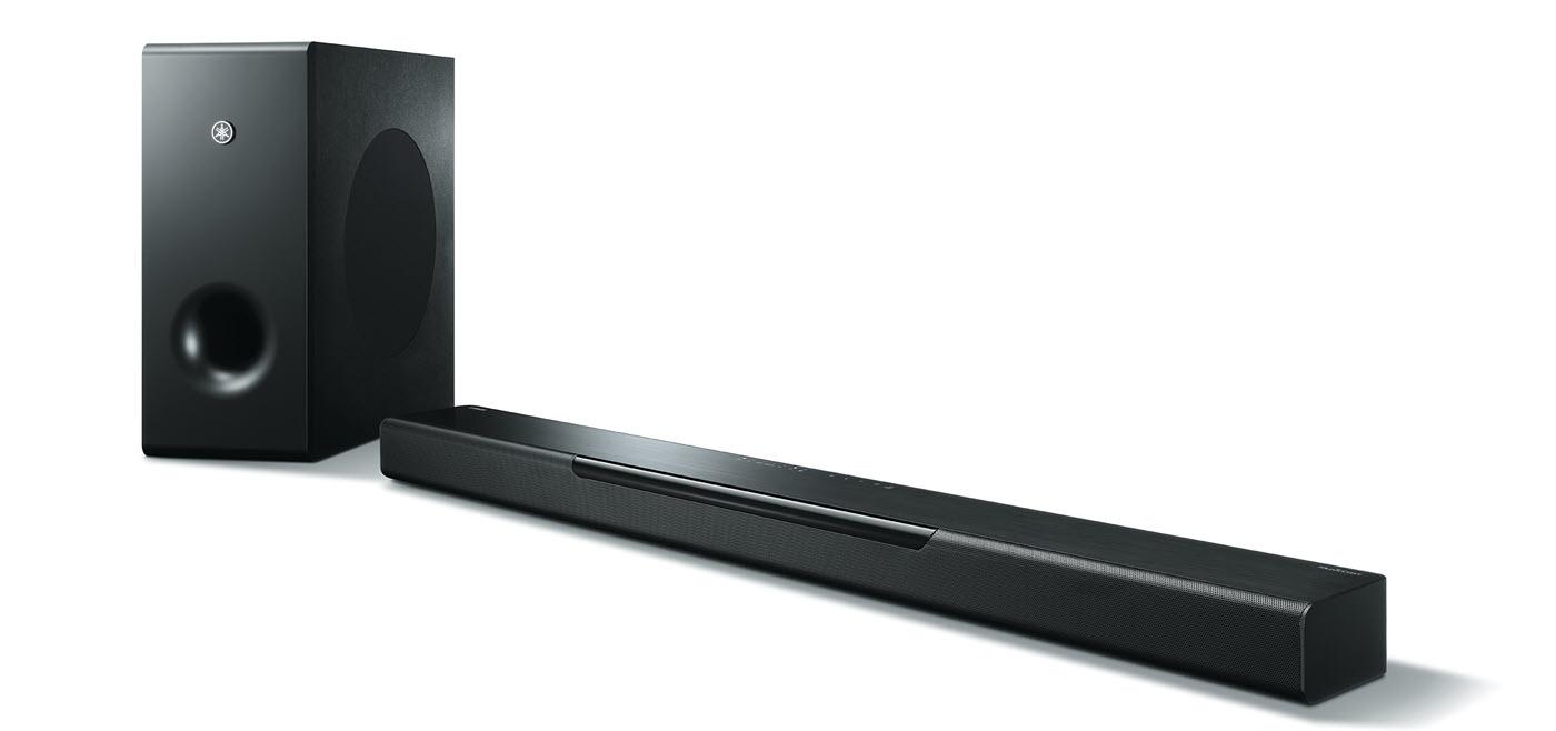 Short rectangular speaker with long thin speaker.