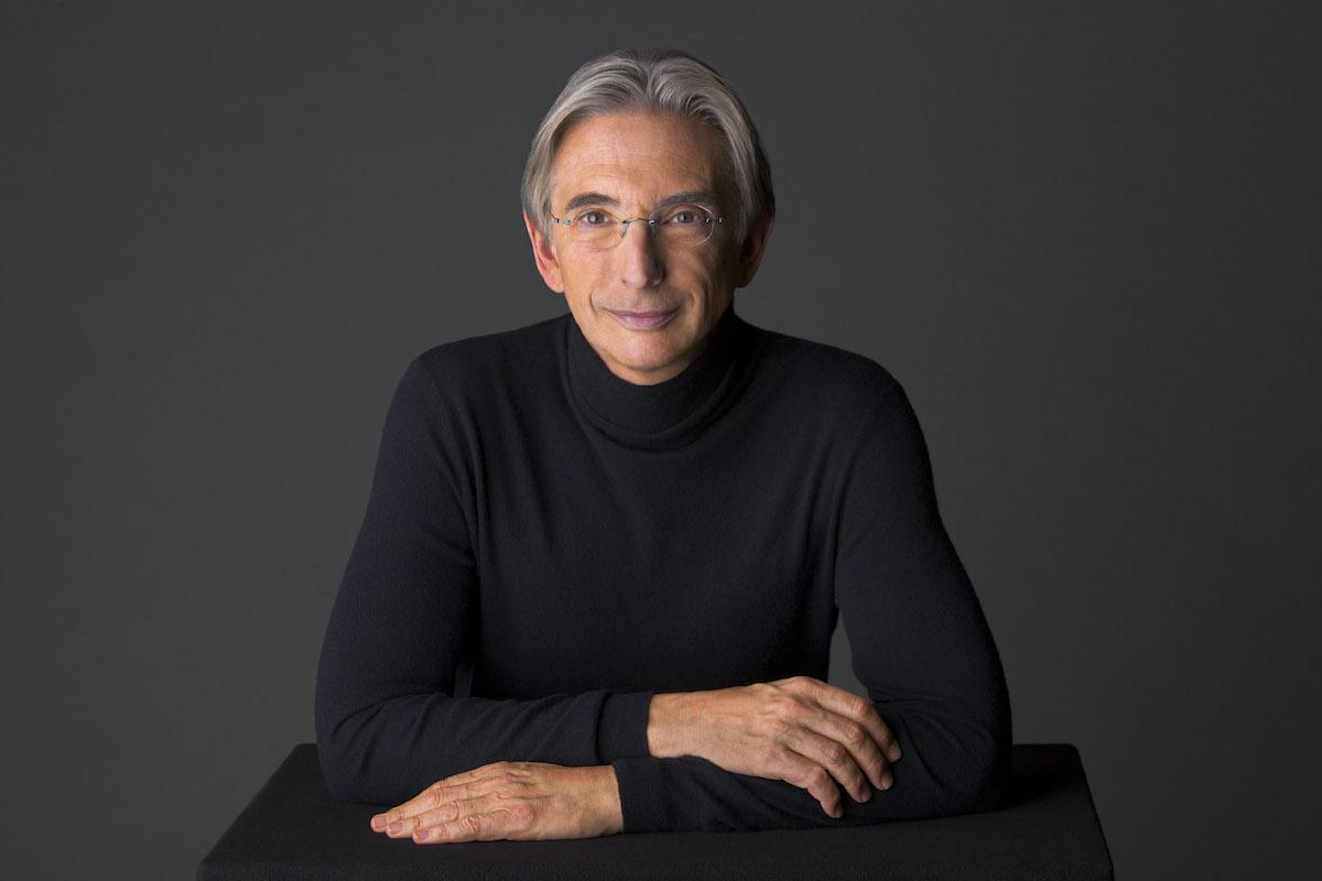 Michael Tilson Thomas studio headshot.