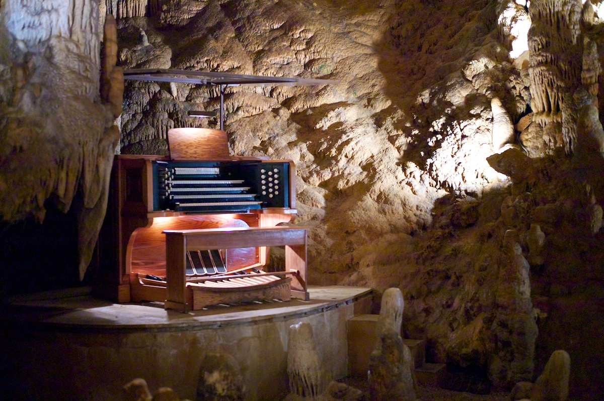 The Great Stalacpipe Organ in Virginia's Luray Caverns.