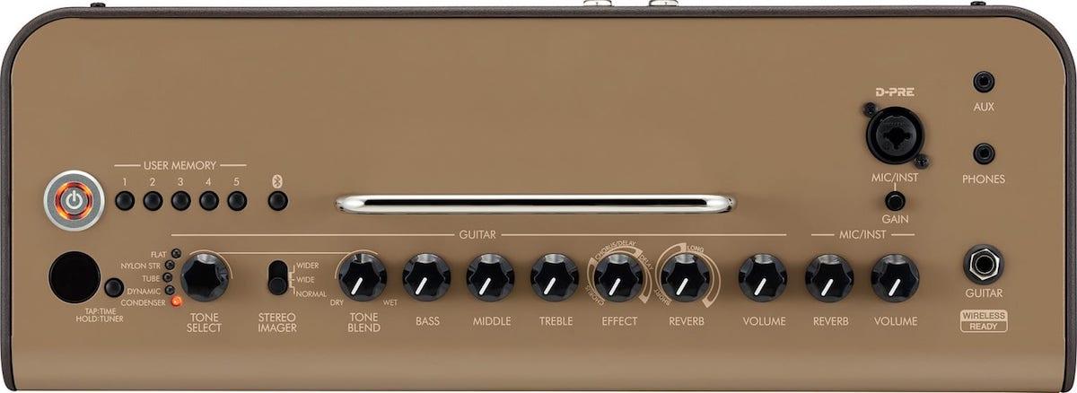 Top panel of the Yamaha THR30IIA desktop amp.