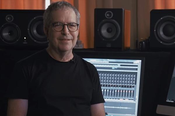 David Kahne in his studio.
