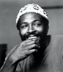 Marvin Gaye smiling.