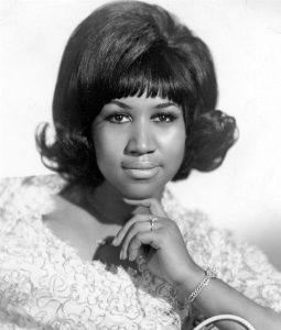 Young Aretha Franklin.