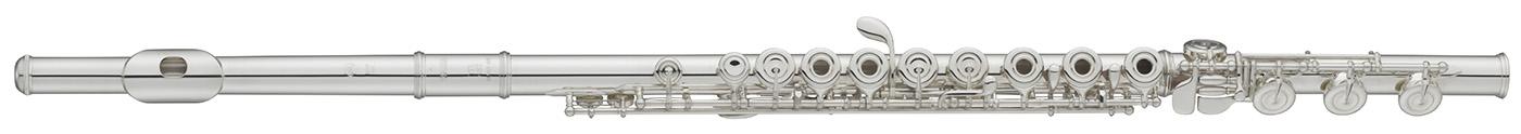 Closeup of a flute.