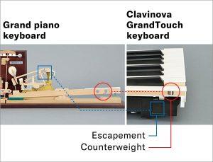 Yamaha Grand Touch keyboard escapement mechanism.