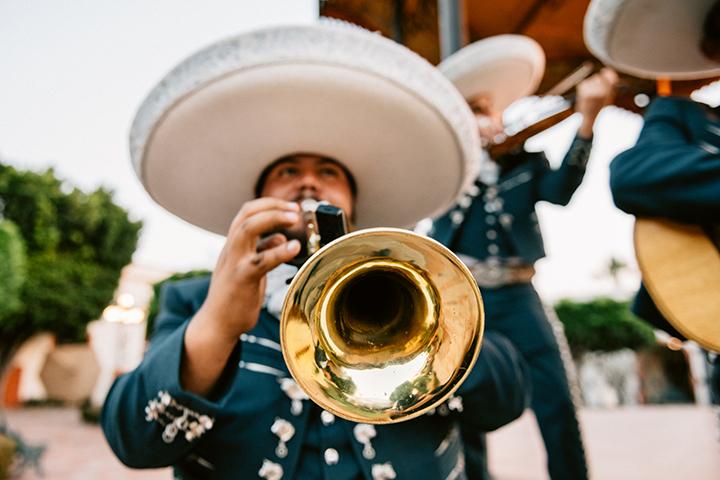 Mariachi Band Playing.