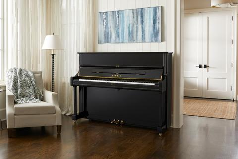 Upright piano in a modern home.