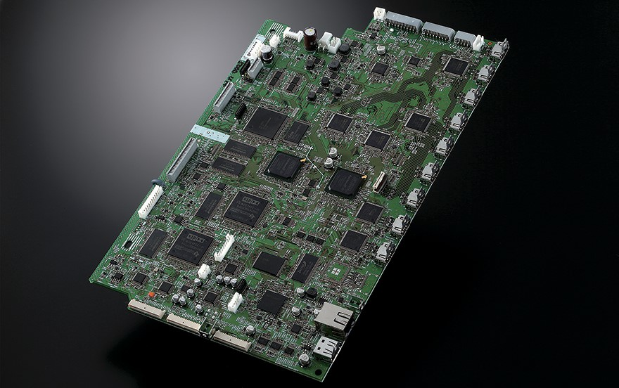 View of circuit board.