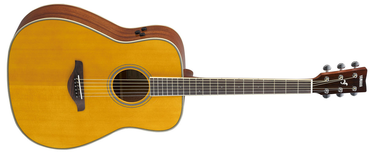 A hybrid acoustic guitar.