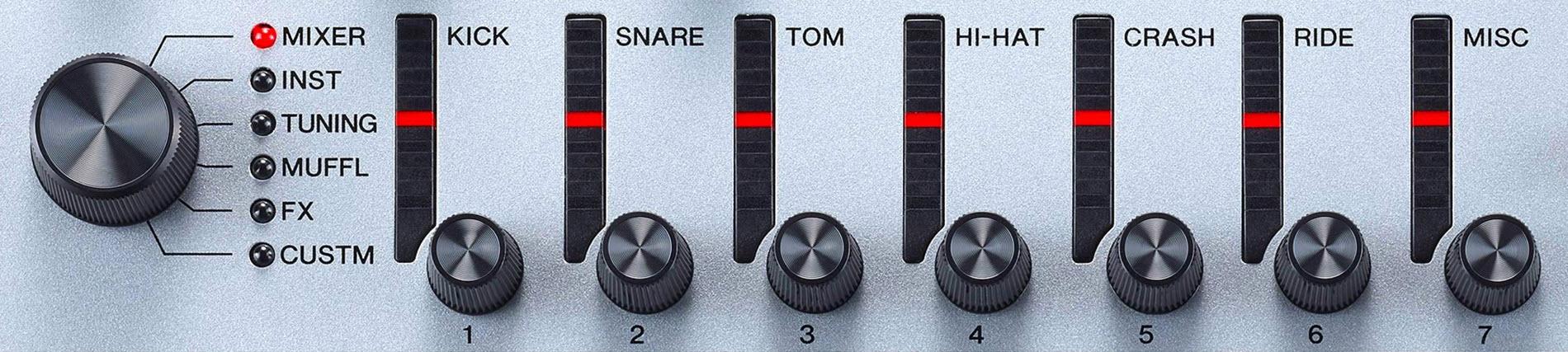 Closeup of dials.