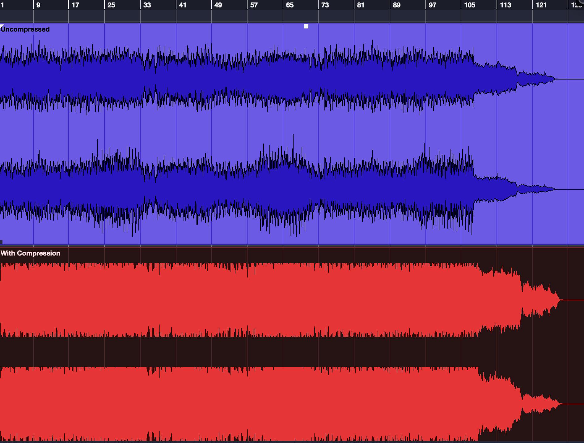 Screenshot of soundwaves on screen.